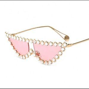 Other - Pink Diamond shape Sunglasses